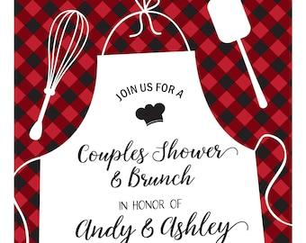 Buffalo Plaid Bridal Shower Invite