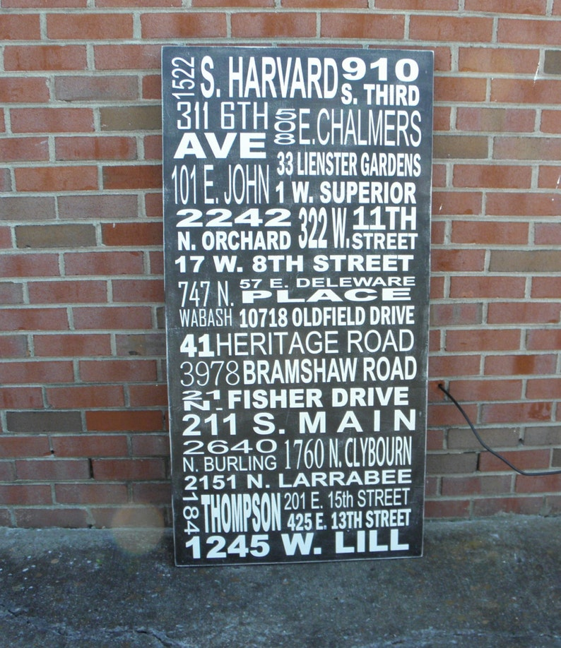 Multiple address sign, Custom subway art personalized with your wording,  Military address sign, Military Retirement gift
