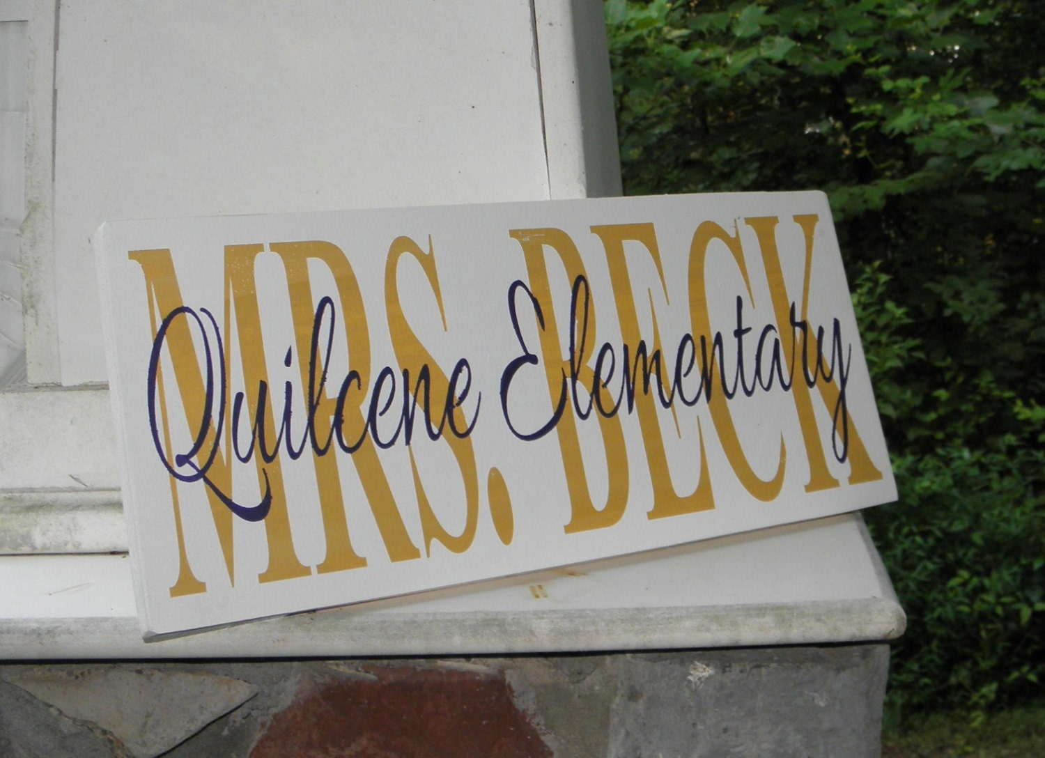 teacher sign personalized with name and school custom classroom