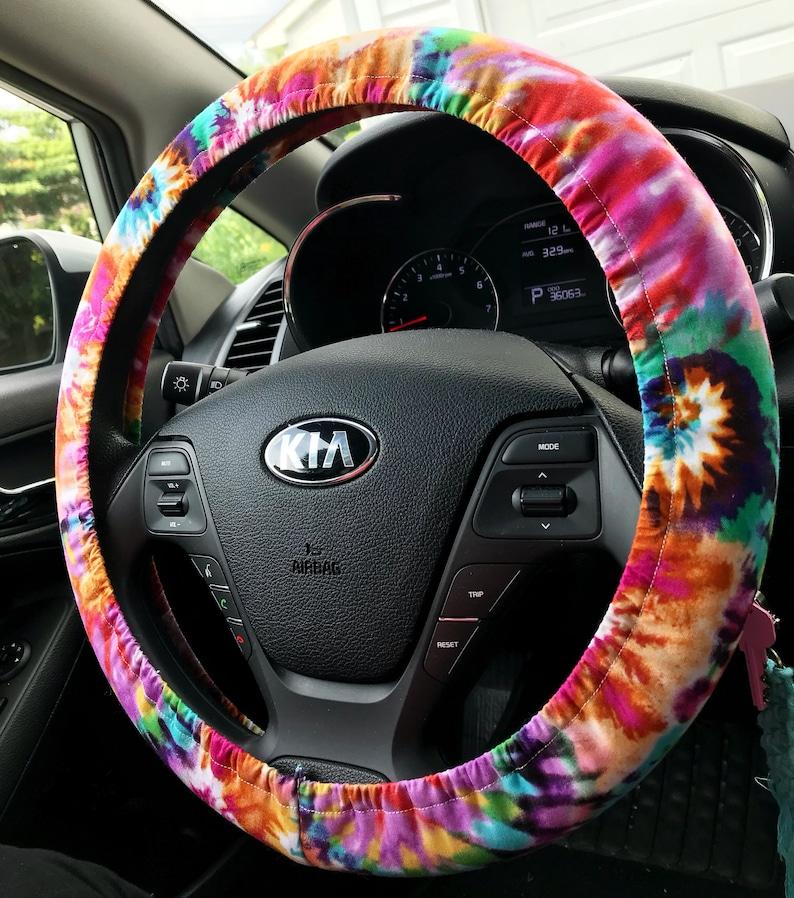 Handmade Tie-Dye Cotton Steering Wheel Cover