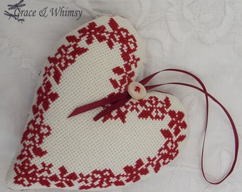 Cross Stitch Decorative Heart