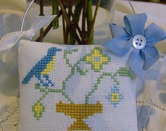 Traditional design cross stitch decorative cushion