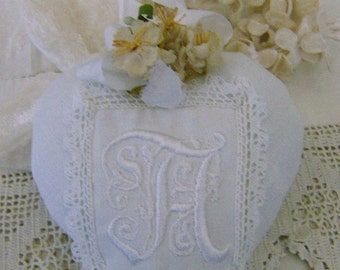 Embroidered decorative heart