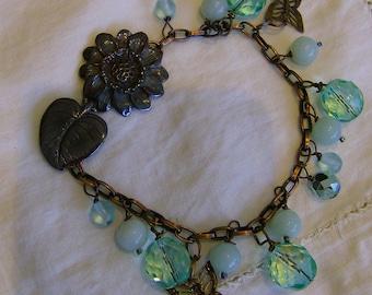 Sea Foam Flower Bracelet
