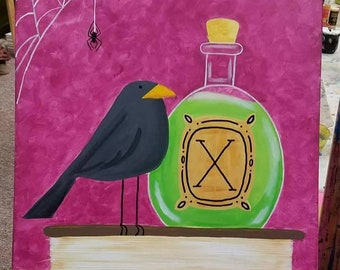 Apothecary Acrylic Canvas Painting
