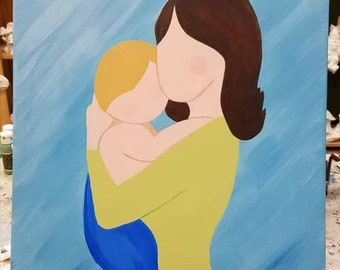 A Mothers Love Acrylic Canvas Painting