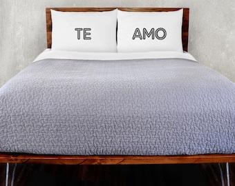 Te Amo Pillowcase Set