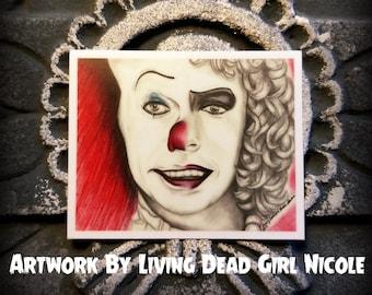 "Portrait Art Sticker : ""Penny Furter"" - Stephen King IT Pennywise Franken Furter Rocky Horror Picture Show Tim Curry"