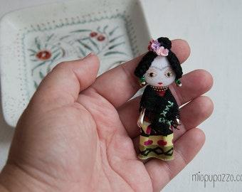 Frida Kahlo, Art Doll Brooch