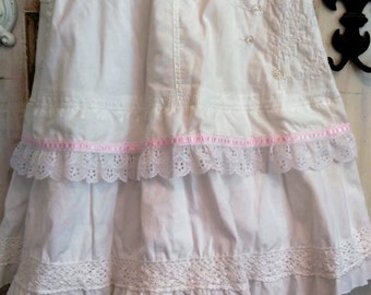 Mori Girl | Boho Skirt | Lagen Skirt | White Layered Prairie Skirt |Mori | The wild Raspberry