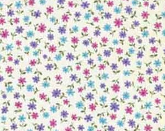 Makower 100/%  Cotton Fabric Alison/'s Flowers  Ditzy Floral Scatter Daisy 1436 N