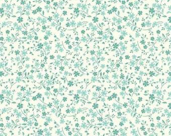 MULTI FLORAL Craft Quilting Cotton Fabric Makower Blue Mint Flowers KATIE JANE