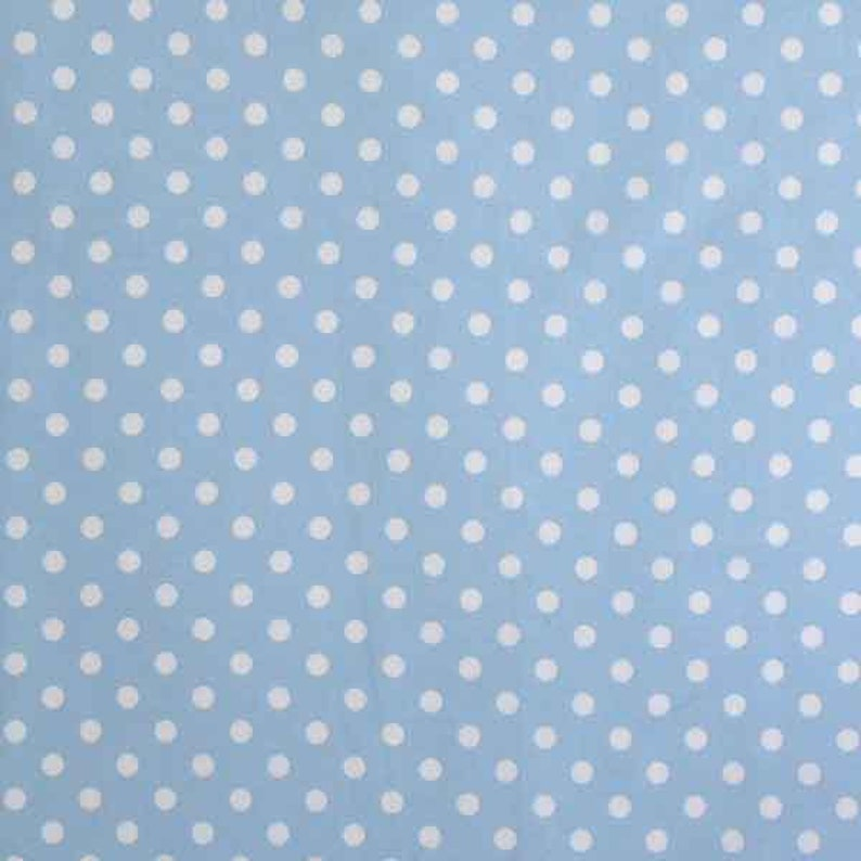 Fabric Freedom Sky Blue With White Spots 100/% Cotton