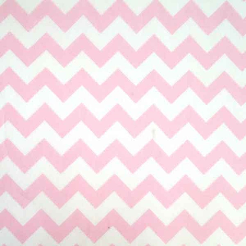 9c09f69981515 Pink Chevron Cotton Fabric by Rose   Hubble Pink and White