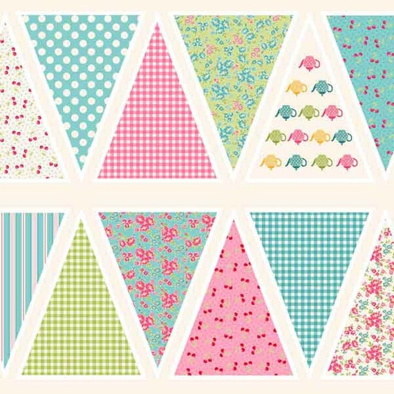 Makower Tea Party Biscuits Cotton Craft Fabric By The Fat Quarter
