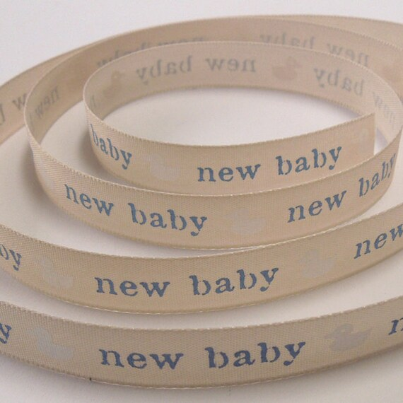 For Your Christening Ribbon 4 Designs 4 Lengths Berisfords 15mm New Baby Duck