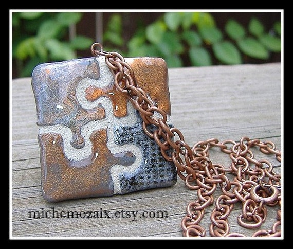 items similar to custom puzzle piece jewelry on etsy