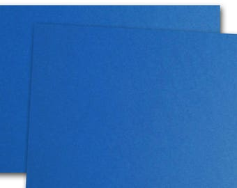CC Cobalt Blue 80lb cover weight Card Stock 8.5x11 - 25 sheets