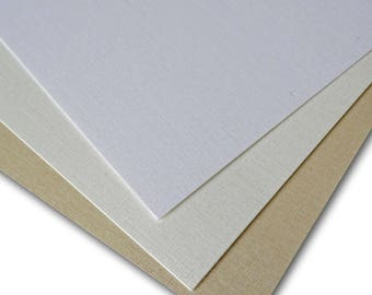 Classic PEARL LINEN 84lb cover weight Card Stock 8.5x11 - 25 sheets