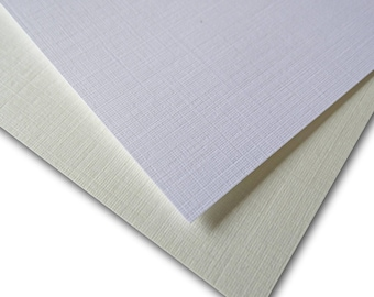Classic LINEN 80lb cover weight Card Stock 8.5x11 - 50 sheets