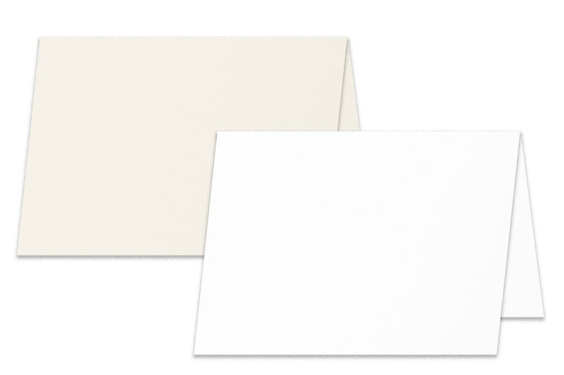 Blank Cougar 4x6 Folded Cards 50 pack for card making and DIY Invitations