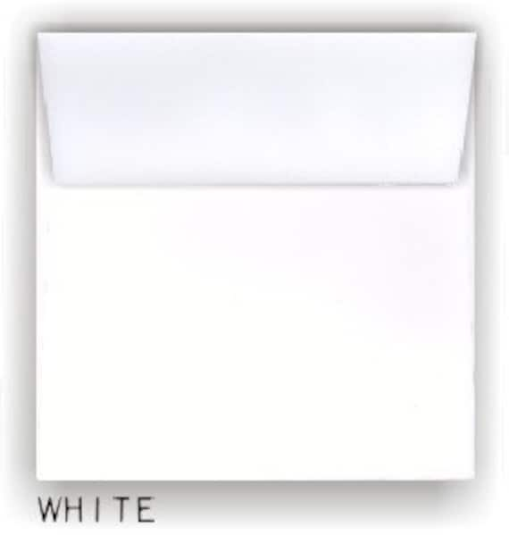 """100 Small Square Ivory White Pearl Card Blanks /& Envelopes 130mm 5/"""""""