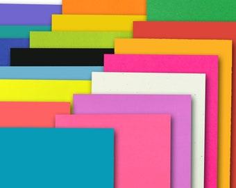 Bright colors 100 lb heavyweight 8.5x11 Discount CardStock--25 sheets