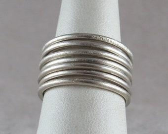 Vintage 7 Stack Ring Sterling Silver Size 7