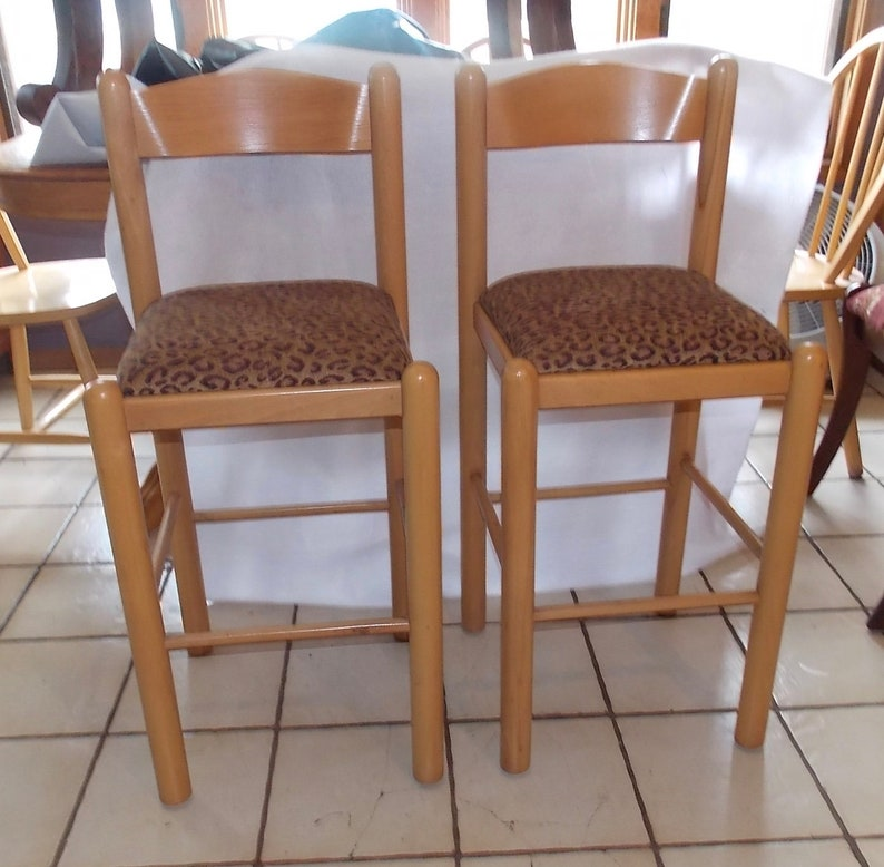 Terrific Pair Of Bar Stools Sidechairs Squirreltailoven Fun Painted Chair Ideas Images Squirreltailovenorg