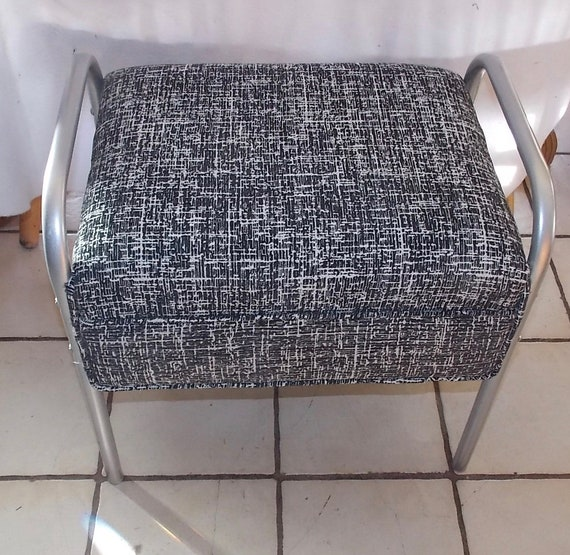 Awesome Mid Century Chrome Vanity Bench Bn102 Bralicious Painted Fabric Chair Ideas Braliciousco
