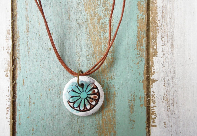 Polymer Clay Jewelry featuring an Itty Bitty Grunge Flower image 0