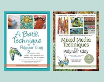 Polymer Clay Tutorial How To • Step by Step Two Techniques BUNDLE by Wired Orchid • Digital Download • Instant Download