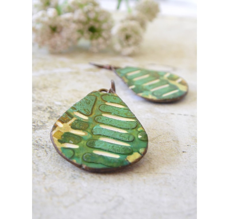 Polymer Clay Statement Abstract Earrings featuring Tropical image 0