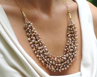 Pearl Bib Necklaces