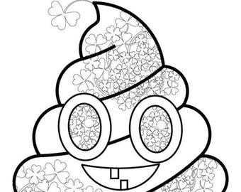 printable poop emoji coloring 046 girl st patrick s day etsy Girl Emoji iPhone Cases printable poop emoji coloring 046 dad st patrick s day coloring pages printable shamrock coloring poop emoji coloring clover coloring