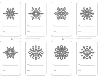 picture about Printable Christmas Tags Black and White named black and white printable labels -