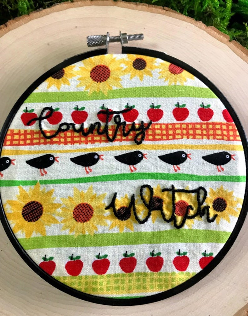 COUNTRY WITCH Embroidery  5 Inch Hoop  Harvest Themed image 0