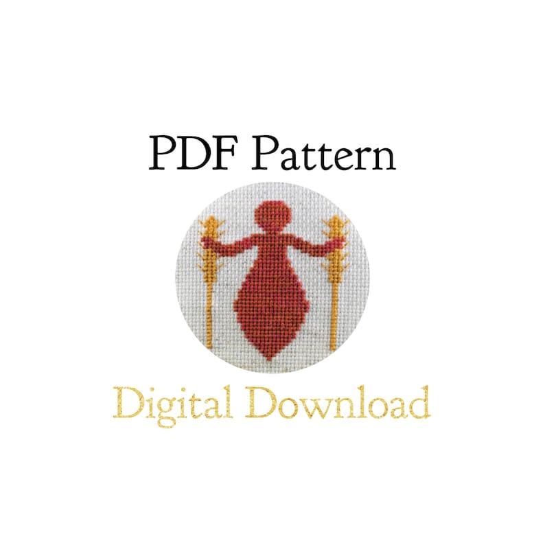 PATTERN ONLY  Harvest Goddess Cross Stitch Pattern PDF  image 0