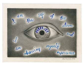 Observer Eye - Drawing by Ana Bagayan, 2020