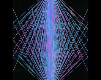 Sherbert Vibration - Abstract Ballpoint Pen Drawing by Ana Bagayan