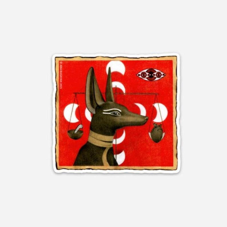 NEW Vinyl Sticker Anubis  Made by Ana Bagayan  Satin Finish image 0