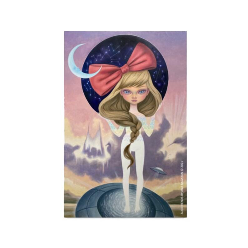 NEW Vinyl Sticker  Alien Venus  Made by Ana Bagayan  Satin image 0