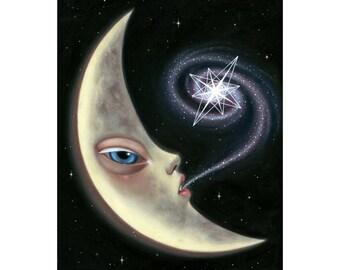 Alien Moon - Original Oil Painting by Ana Bagayan 2013