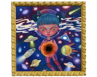 Original 'Black Hole Donut' (2019) Oil Painting by Ana Bagayan