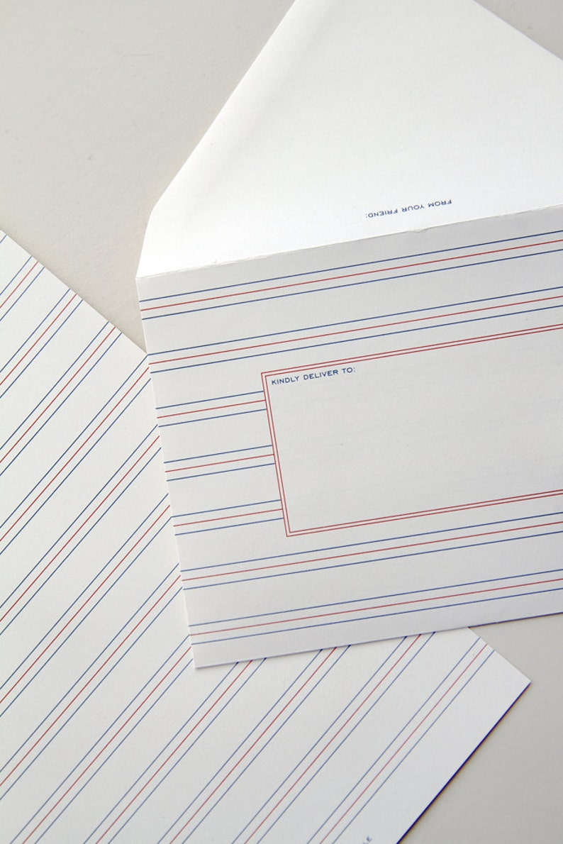 A1 size stationery set of 10  French image 0