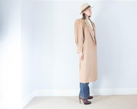 vintage 1950s cashmere wool oversized camel coat … - image 6