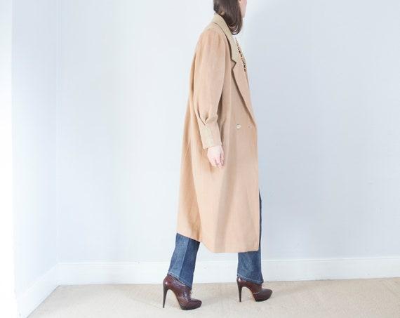 vintage 1950s cashmere wool oversized camel coat … - image 1