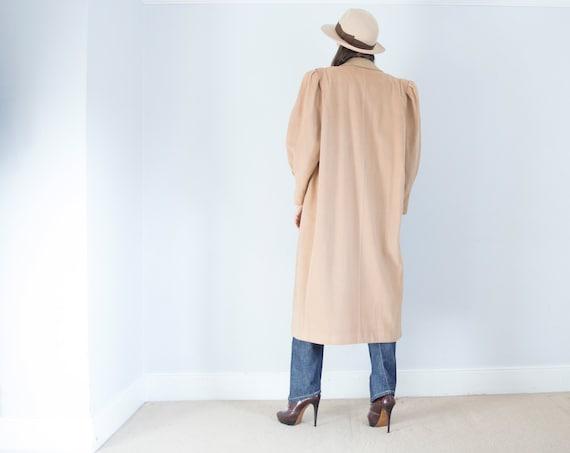 vintage 1950s cashmere wool oversized camel coat … - image 4