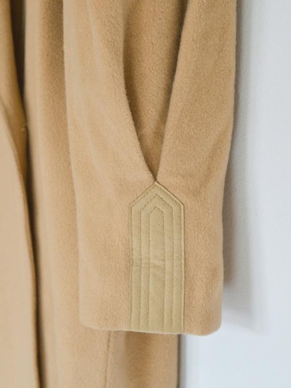 vintage 1950s cashmere wool oversized camel coat … - image 9