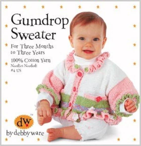 Kit/suéter/Baby & Toddler/Debby Ware patrón/Kit/punto/algodón | Etsy